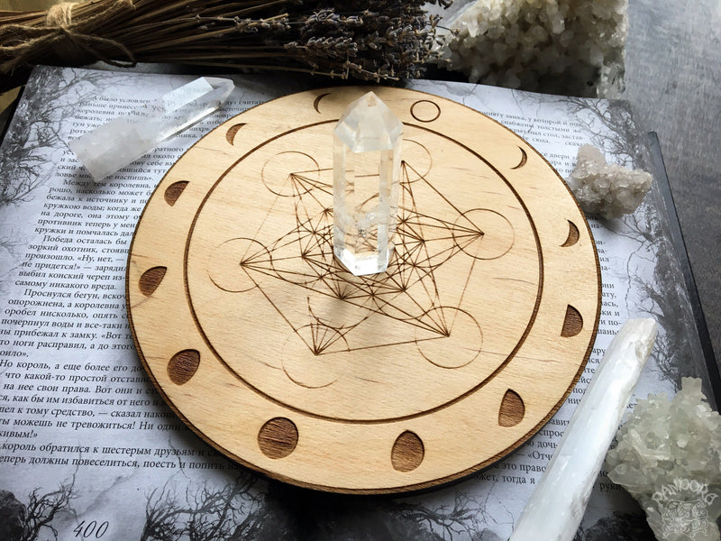 Crystal Grid - Moon Metatrons Cube