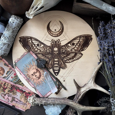 Death Head Moth - Altar Pentacle - Natural