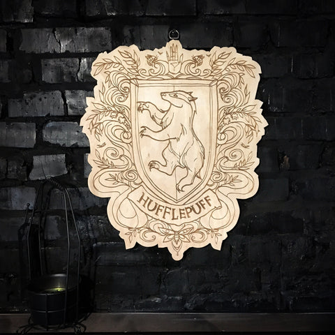 Decor - Wooden Emblem - Hufflepuff