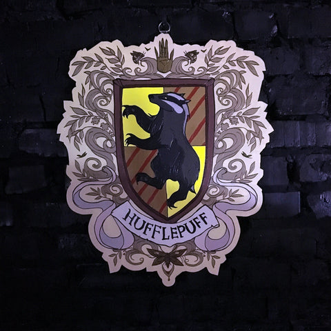 Decor - Wooden Emblem - Hufflepuff - Color