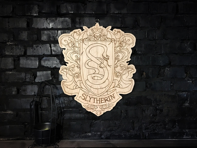 Decor - Wooden Emblem - Slytherin