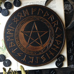 Elder Futhark Runes - PentaMoon - Black\Oak