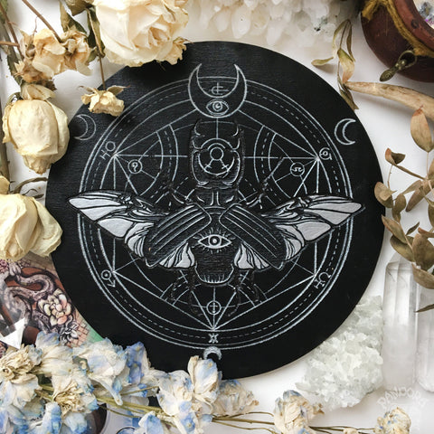 Magic Beetle - Altar Pentacle - Black\Silver