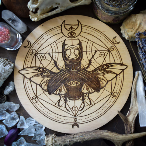 Magic Beetle  - Altar Pentacle - Natural