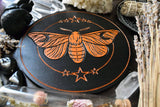 Moon Moth - Altar Pentacle - Black\Orange