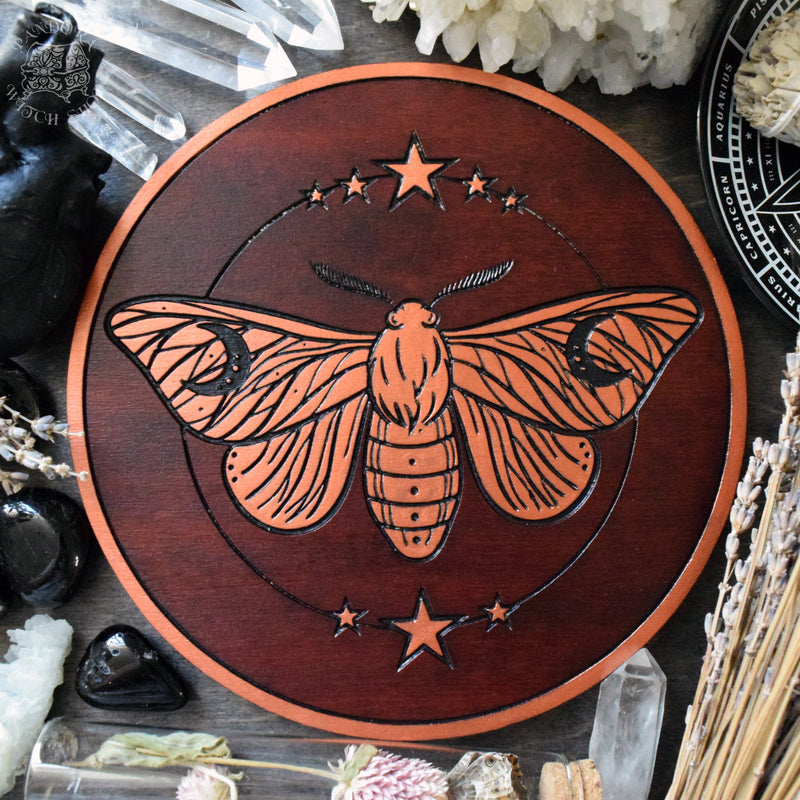 Moon Moth - Altar pentacle - Red\Copper