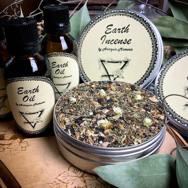 Oil - Earth Set -  Oil And Incense - Elemental Magic
