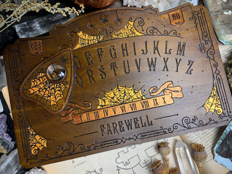 Ouija Board - Arcane Arachnid Dark wood