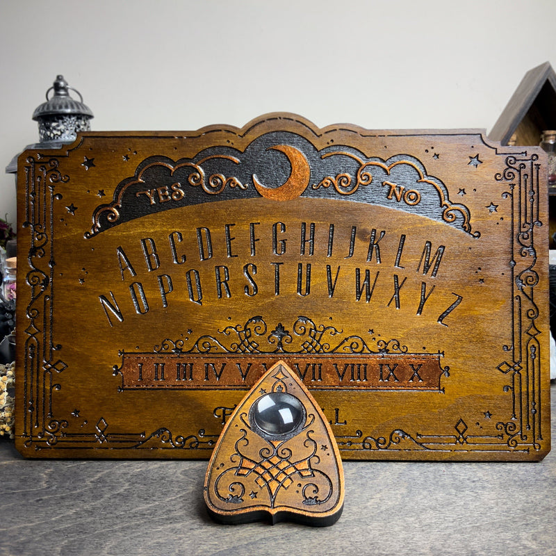 Ouija Board - Lunar Filigree Dark wood