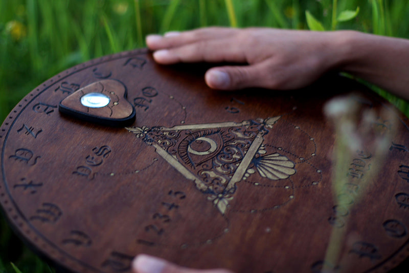 Ouija Board, Witch Board, Talking Board for calling spirits with All Seeing Eye