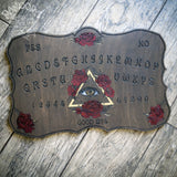 Wooden Ouija Board, Witch Board, Talking Board for calling spirits with All Seeing Eye Blooms
