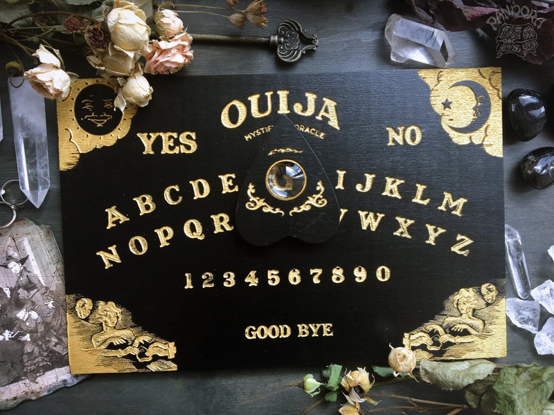 Ouija Board, Witch Board, Talking Board for calling spirits in traditional classic design