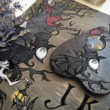 Wooden Ouija Board, Witch Board, Talking Board for calling spirits with Irene Horrors art Halloween