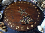 Ouija Board, Witch Board, Talking Board for calling spirits with Baphomet, Samael, Lucifer, Satan, Devil