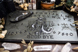 Wooden Ouija Board, Witch Board, Talking Board for calling spirits with Voodoo Veve Baron Samedi