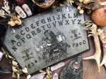Wooden Ouija Board, Witch Board, Talking Board for calling spirits with Voodoo Veve Maman Brigitte