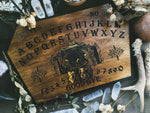 Wooden Ouija Board, Witch Board, Talking Board for calling spirits with Voodoo Veve Papa Legba