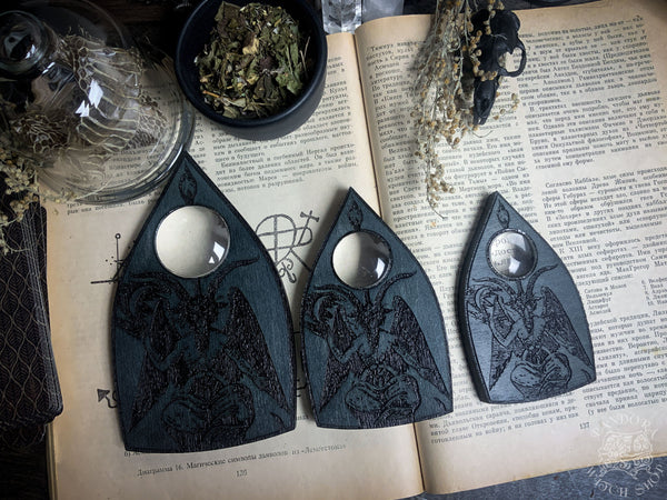 Planchette - Baphomet - Grey Wood
