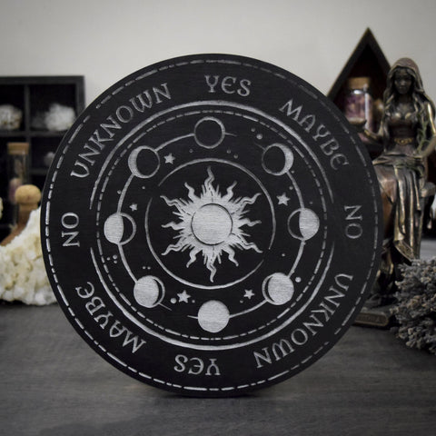 Pendulum Board - Moon Phase Silver