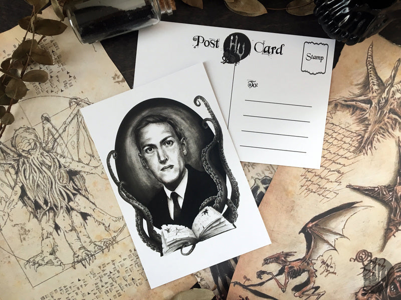 Postcard H. P. Lovecraft - Black / White