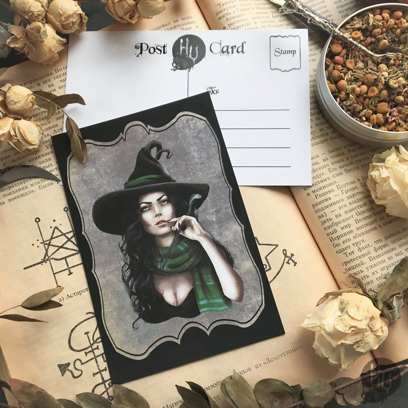 "Postcard ""Witch"""
