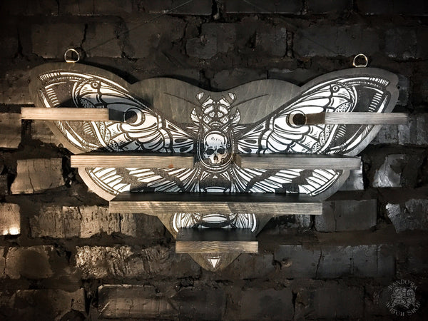 "Shelf ""SILVER DEATH'S HEAD MOTH"""