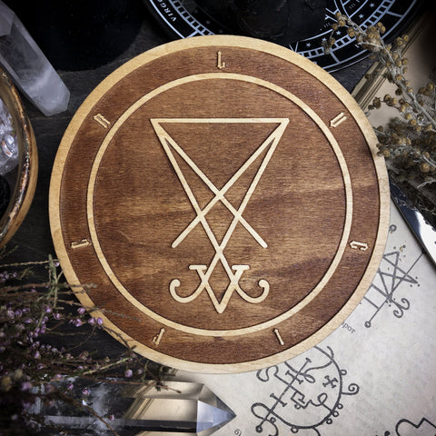 Sigil Lucifer - Altar Pentacle - Natural