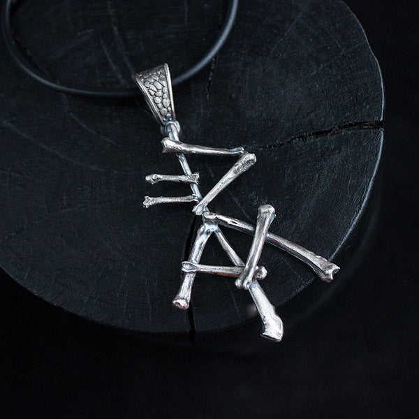 Silver pendant Rune spell luck and success