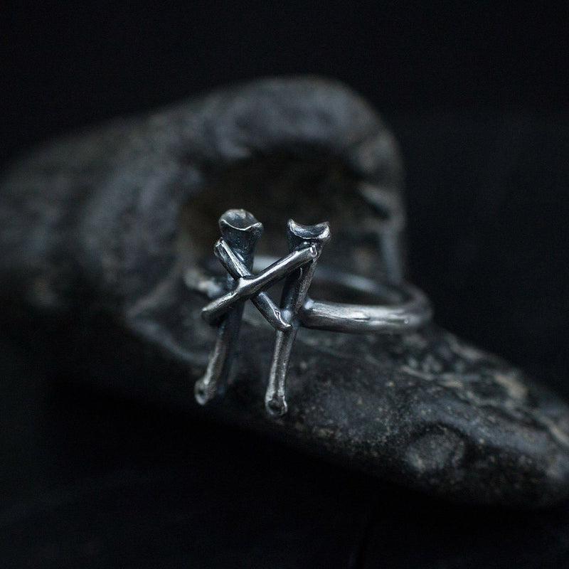 Silver Ring Rune Mannaz