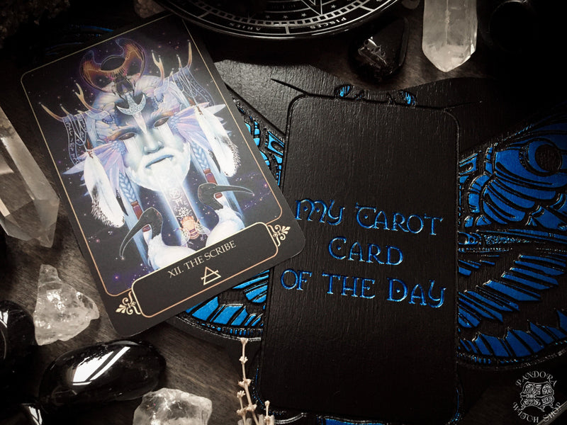Tarot Board Card of the Day - AZURE DEATH'S HEAD MOTH