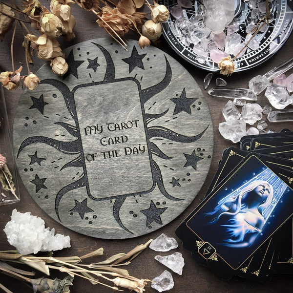 Tarot Board Card of the Day - Gray wood