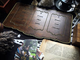 Tarot Spread Board - Tarot Board Three Card Spread- Dark Wood