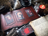 Tarot Spread Board - Tarot Board Three Card Spread- Red Wood