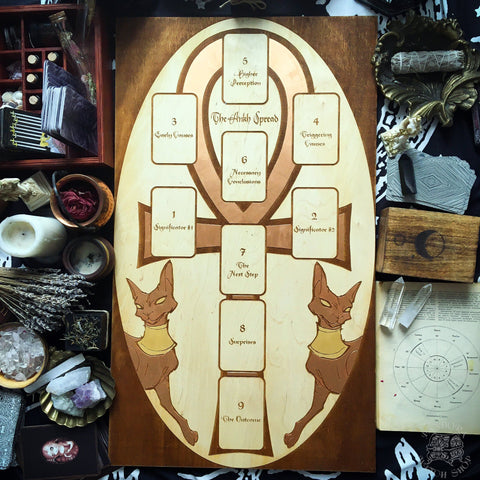 Tarot Spread Board - Tarot Spread Board Ankh II - Copper