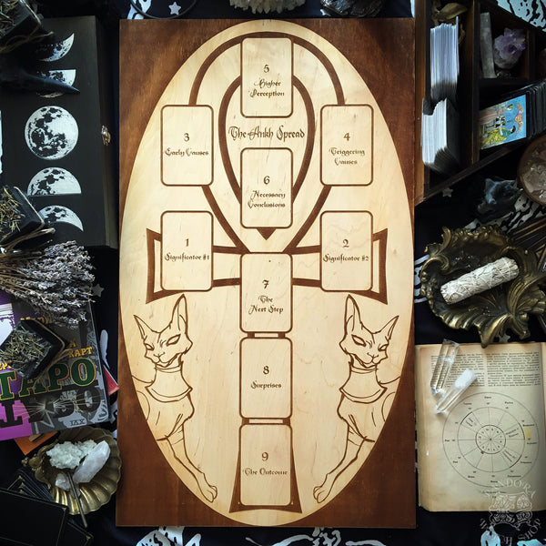 Tarot Spread Board Ankh II - Natural