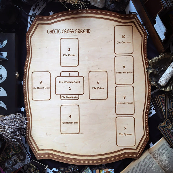Tarot Spread Board Celtic Cross - Natural