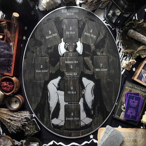 Tarot Spread Board - Tarot Spread Board High Priestess - Silver