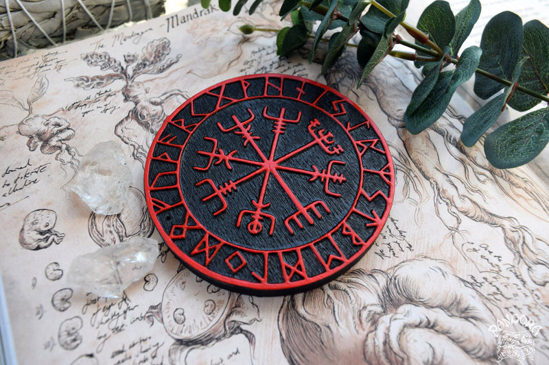 Vegvisir - Altar Pentacle - Black\Red