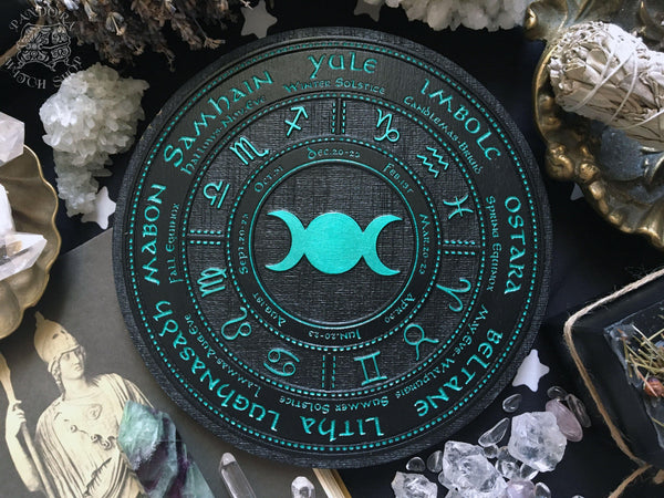 Wheel of the Year - Triple Moon - Black\Emerald