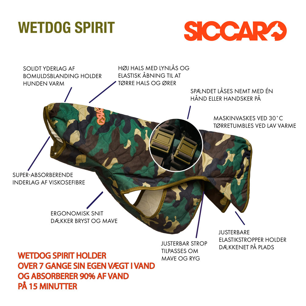 Anatomy of Siccaro WetDog Spirit Drying Coat