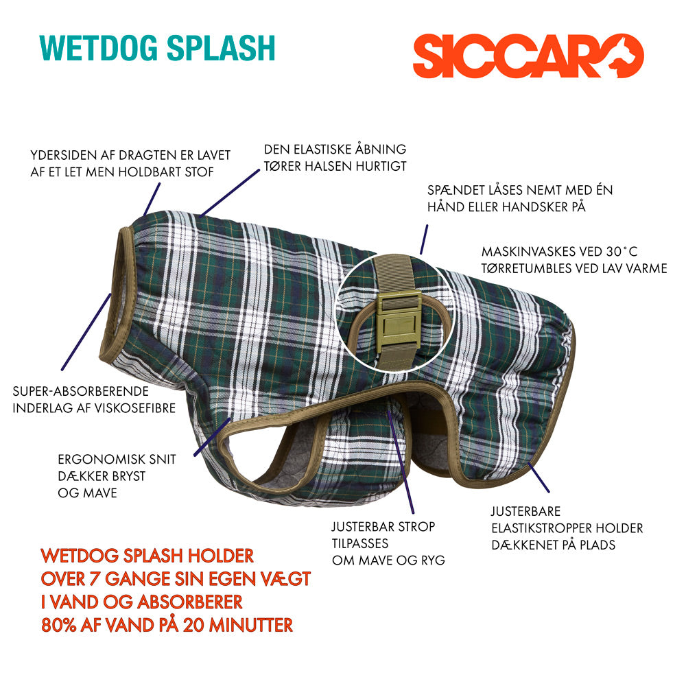 Anatomy of Siccaro WetDog Splash Drying Coat