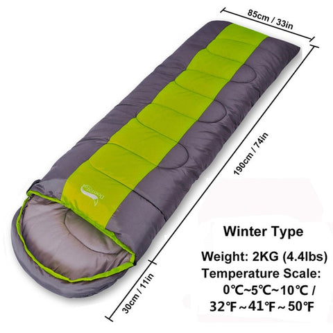 Desert&Fox Large Sleeping Bag for Adults 1pc Winter Type Envelope Warm Sleeping Bags Blanket for Camping Hiking Tourism 220x85cm