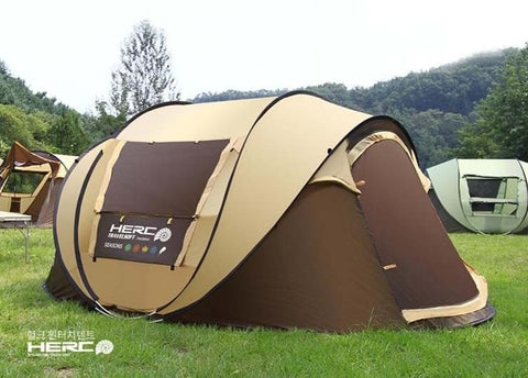 Ultralarge 4-5 Person Pop Up Fully Automatic Self-driving Tour Camping Tent Beach Tent Party Tent Barraca
