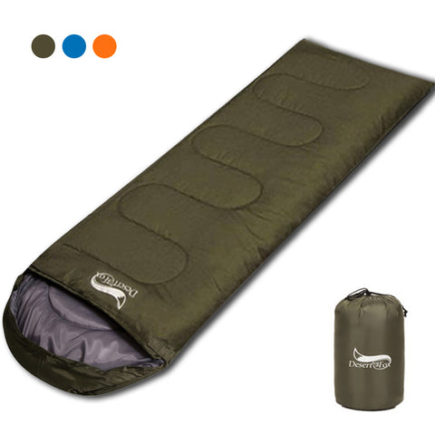 Desert&Fox Ultralight Sleeping bags for Adult Kids 1KG Portable 3 Season Hiking Camping Backpacking Sleeping Bag with Sack