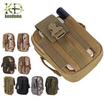 Hot Men Tactical Molle Pouch Belt Waist Pack Bags Small Pocket Military Waist Pack Running Pouch Travel Camping Bags Soft back
