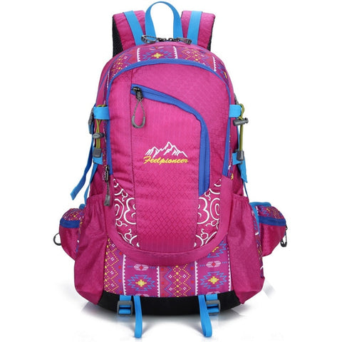 40L Waterproof Nylon Backpack  Men Women Sport School Back Bags Camping Hiking Pack Ski backpack rock climbing backpack