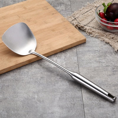 1PC Stainless Steel Cooking Tools Soup Ladle Spoon Slotted Shovel Turner Cooking Utensils Spatula Strainer Pasta Server
