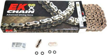 Load image into Gallery viewer, EK Chain 525 ZVX3 Series ZX-Ring Chain 120 Link Gold