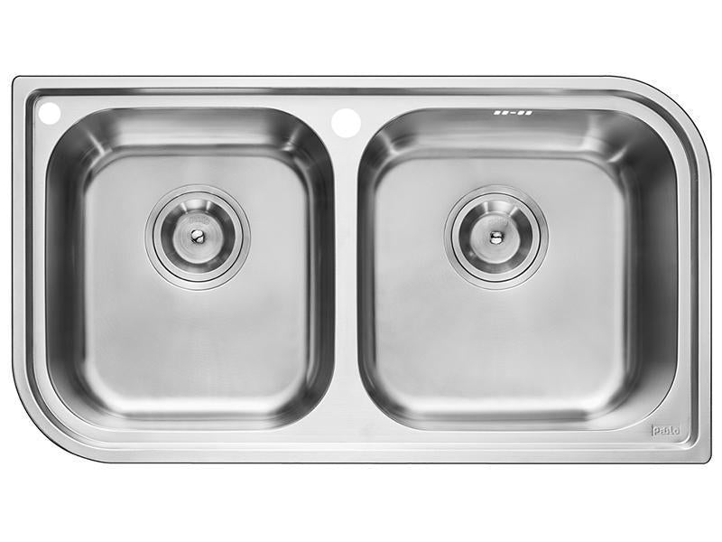 RHINE Series RIP920AA Square Double Bowl Kitchen Sink-sink-RedBak International