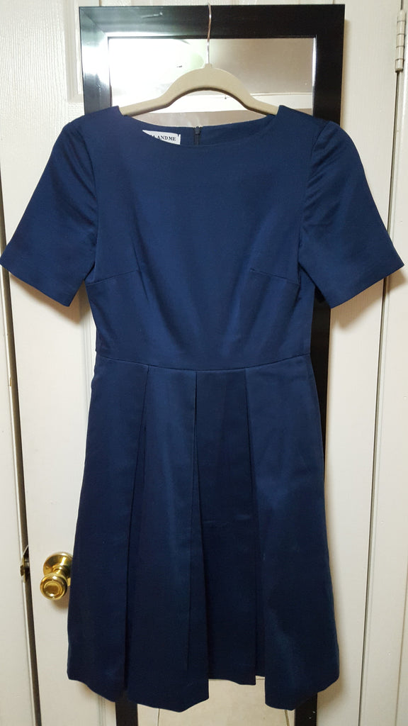 RUTH, Boat Neck, 1/2 Sleeve, Royal Blue Sateen